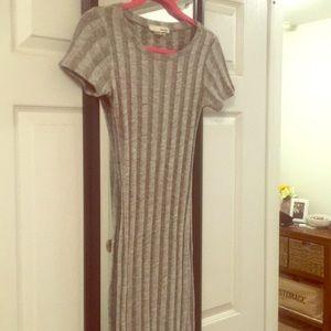 Heather grey body con dress